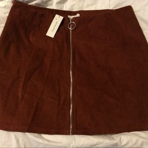Burnt Orange Mini Skirt (NEW)